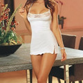 2016 New White Cute Hot Sexy Womens Sleep Dress Underwear Lace Babydoll Sleepwear with Lingerie Beauty