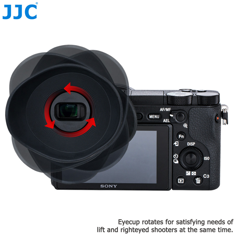 JJC Rubber Camera Eyecup Viewfinder Protector Eye Cup Soft Silicone Eyepiece For Sony A6500 Replaces Sony FDA-EP17 sony крышка окуляра sony fda ep18