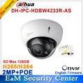 Atacado DH-IPC-HDBW4233R-AS Dahua 2MP IR Mini Dome Câmera de Rede IP IR POE cartão SD de Áudio Estelar H265/H264 IPC-HDBW4233R-AS