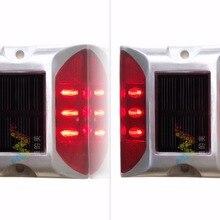 2X Солнечный СВЕТОДИОДНЫЙ дорожный отражатель красный Дорожный мигающий свет один пакет
