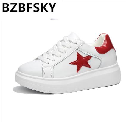 2018 Female White Fashion Sneakers Women Superstar Shoes Platform Ladies Leather Basket Femme Tenis Feminino Casual shoes men leather 2017 ms casual shoes low help white black flat leisure fashion female superstar shoes tenis feminino mujer