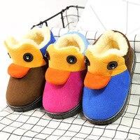New Boots Children Anti Skid Winter Shoes Fashion Cotton Boots Boys Girls Shoes Duck Cartoon Cute