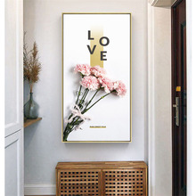 HAOCHU Large Picture Nordic Flower Plant Romantic LOVE Personality Home Decorative Painting Wall Art Canvas Print And Poster