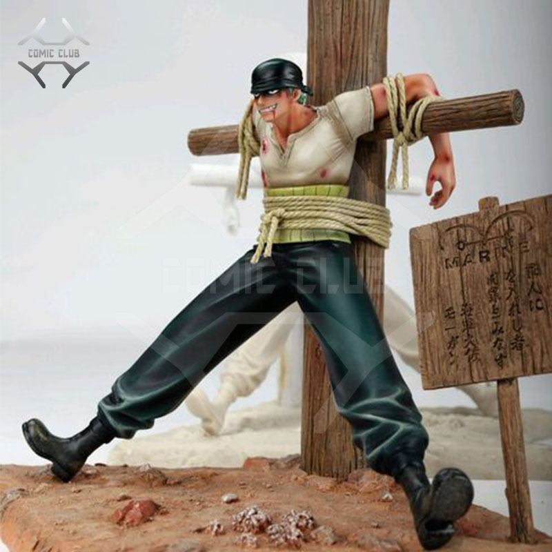 COMIC CLUB One Piece 30cm Roronoa Zoro Debuted cross gk resin figure toy for Collection Handicrafts