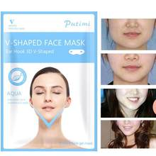 1Pc V-Shape Thin Face Mask Slimming Lifting Firming Fat Burn Chin V-line Women Wrinkle V Face Chin Cheek Lift Up Slimming Mask(China)