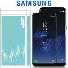 Orijinal süper AMOLED S8 için çerçeve ile LCD SAMSUNG Galaxy S8 G950 G950F ekran S8 artı G955 G955F dokunmatik ekran digitizer