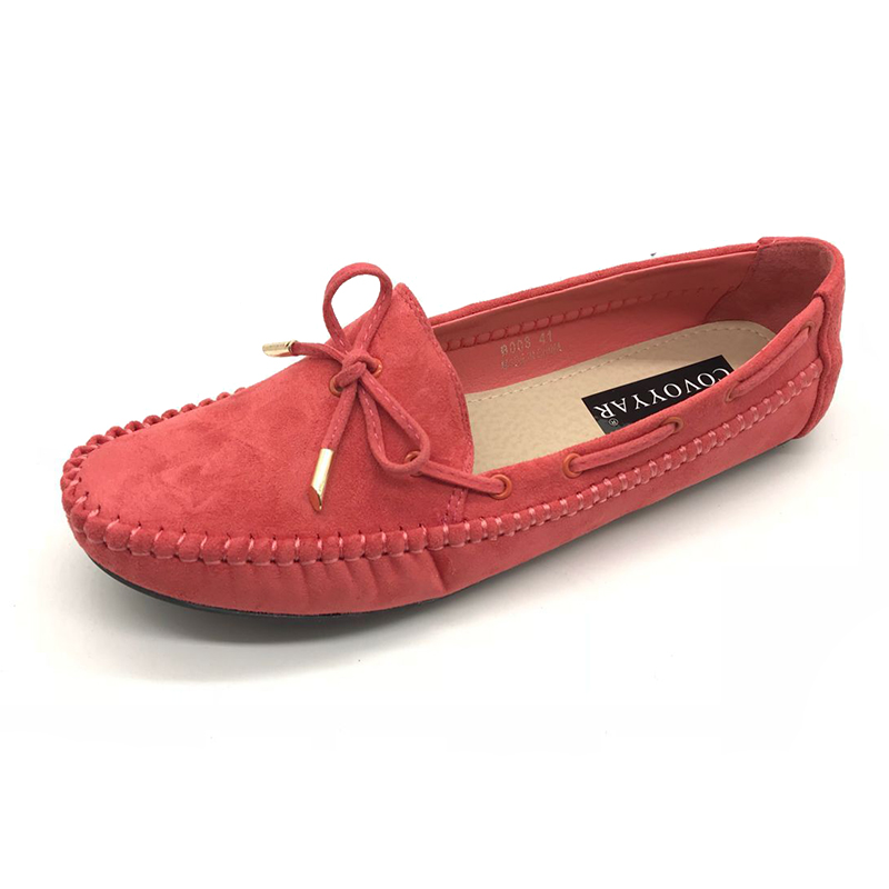 COVOYYAR 2018 Spring Summer Lovely Boat Shoes Women Bow Loafers Casual Shoes Woman Flats Soft Insole Slip On Size 35-41 WFS114