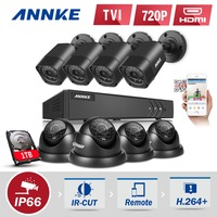 ANNKE 8CH 1080P HDMI CCTV Surveillance DVR Kit 8pcs 720P HD 1200TVL CCTV Security Cameras IR
