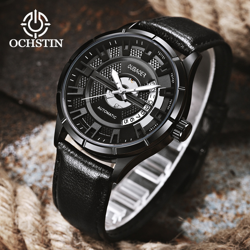 mens watch mens mechanical automatic wristwatch waterproof luxury oubaoer brand genuine leather man watch Citizen movementmens watch mens mechanical automatic wristwatch waterproof luxury oubaoer brand genuine leather man watch Citizen movement