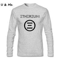 פרו ייחודי מועדון חולצה Mens Ethereum סמל שחור XXL Hipster גברים חולצה צמרות פריצות