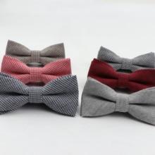 Детский галстук-бабочка в полоску; Официальный галстук-бабочка из хлопка; Детские Классические однотонные галстуки-бабочки; цветные галстуки-бабочки для свадебной вечеринки; Галстуки для смокинга