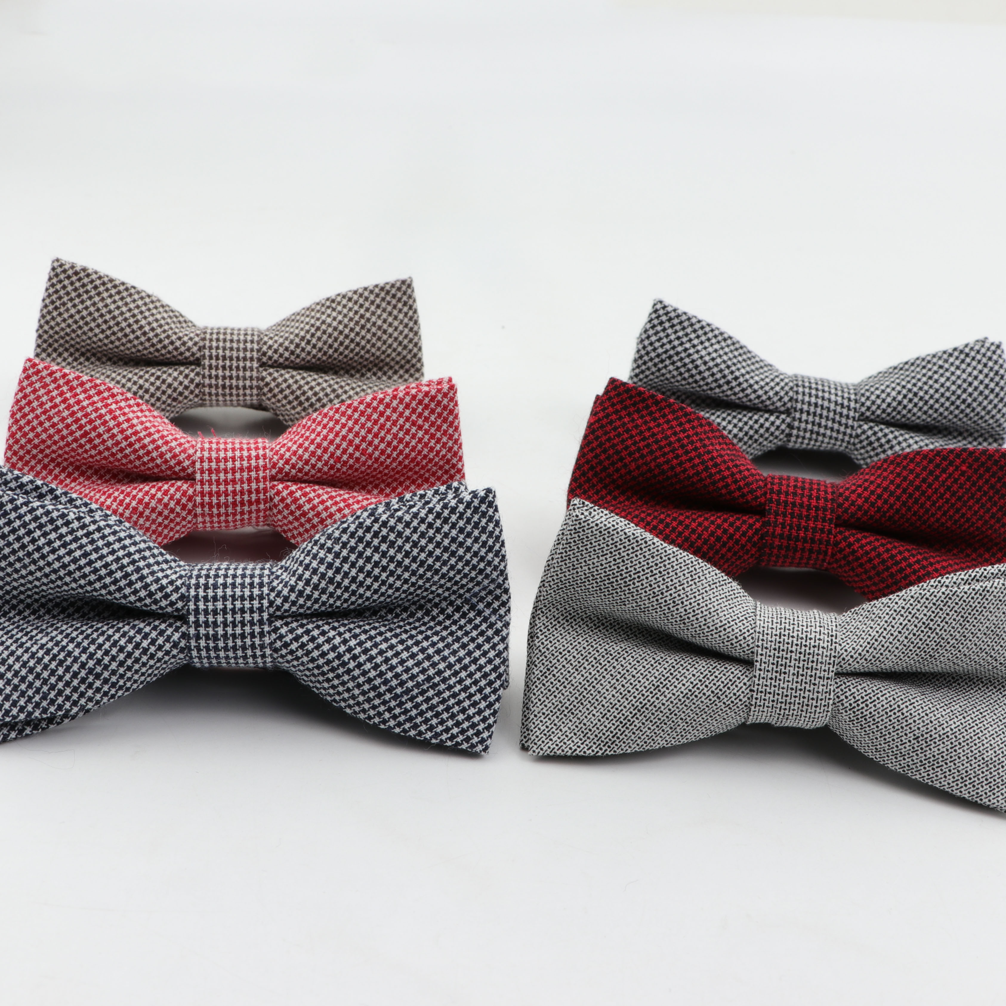 Children Striped Color Bowtie Formal Cotton Bow Tie Kid Classical Solid Bowties Colorful Butterfly Wedding Party Pet Tuxedo Ties