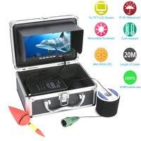 GAMWATER 7 Inch HD 1000tvl Underwater Fishing Video Camera Kit 6pcs 1W White LEDs Lights Video