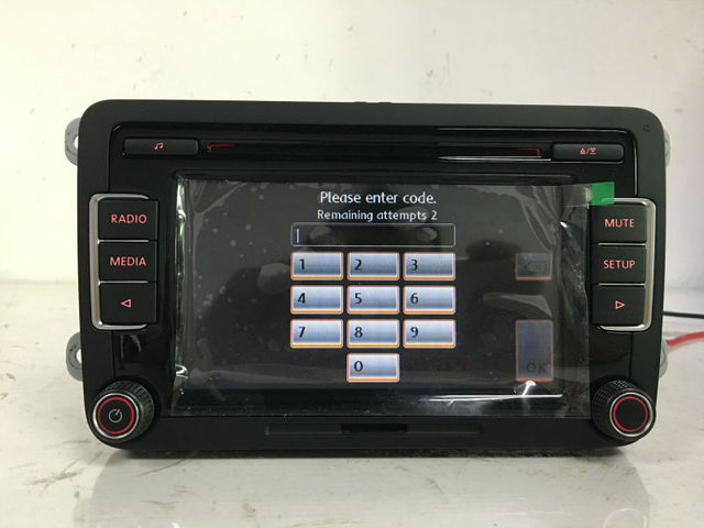 free shipping original 6cd player car radio stereo rcd510. Black Bedroom Furniture Sets. Home Design Ideas