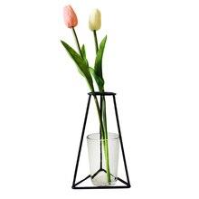 Минималистичный абстрактный Железный цветочный горшок абстрактные черные линии ваза сушеные цветочные горшки стойки Новые скандинавские украшения для дома вечерние украшения
