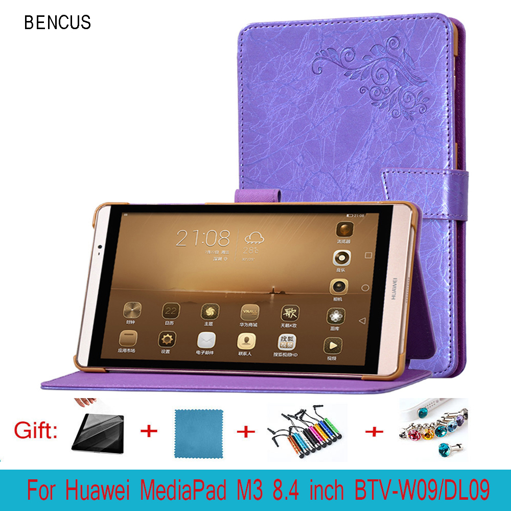 BENCUS PU Leather Case cover For Huawei MediaPad M3 8.4 inch Tablet PC Protective Case For Huawei M3 BTV-W09 BTV-DL09 +Pen