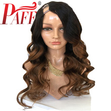 PAFF Ombre U Part Human Hair Wigs Middle 180Density Brazilian Remy Body Wave 1*4 Opening 1BT30 Two Tone Color