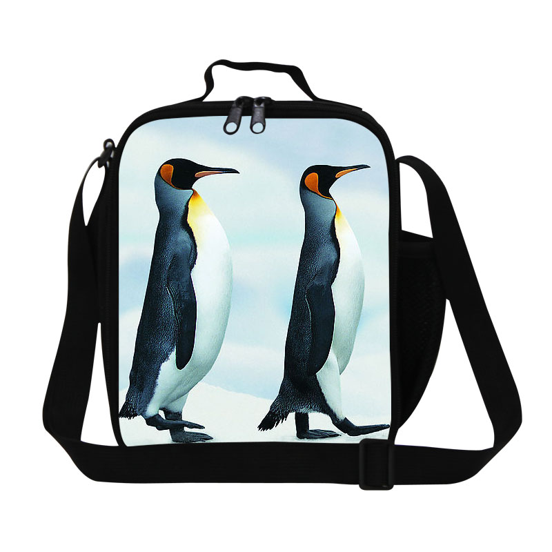 Kids Thermal Lunch Bags Animal Cute Ice Penguin Lunch Box Children Insulated Multi-function Animals Baby Picnic Food Bag