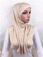 LJ6 модальный Двухсекционный мусульманский хиджаб шарф модный хиджаб оголовье шарф - Цвет: LJ60010