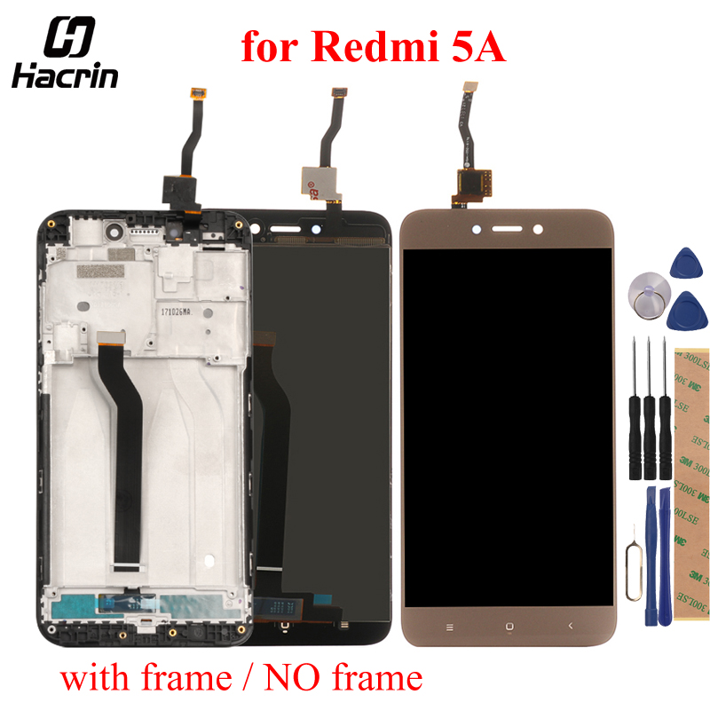 For Xiaomi Redmi 5A LCD Display+Touch Screen 5.0inch 100% Tested Digitizer Assembly Replacement For Redmi 5A Mobile Phone
