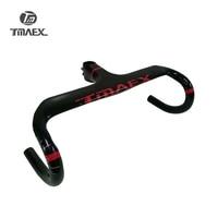 TMAEX الأحمر الكربون المقود الكربون طريق المقود المتكاملة مع الجذعية الداخلي تصل 95 ملليمتر قطرة 125 ملليمتر الكربون الدراجات الدراجة أجزاء