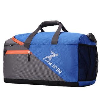Large Capacity Training Gym Bag Outdoor Waterproof Nylon Sports Luggage Duffels Bag Multifunction Shoulder Handbag for Men Women 1