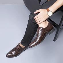 Men Formal Round Toe Flats Shoes  Dress Brand Leather Classic Business Gentleman Plus Big Size 38-48