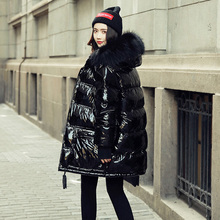 Winter Jacket Women Coat Duck Down Parka Large Real Raccoon