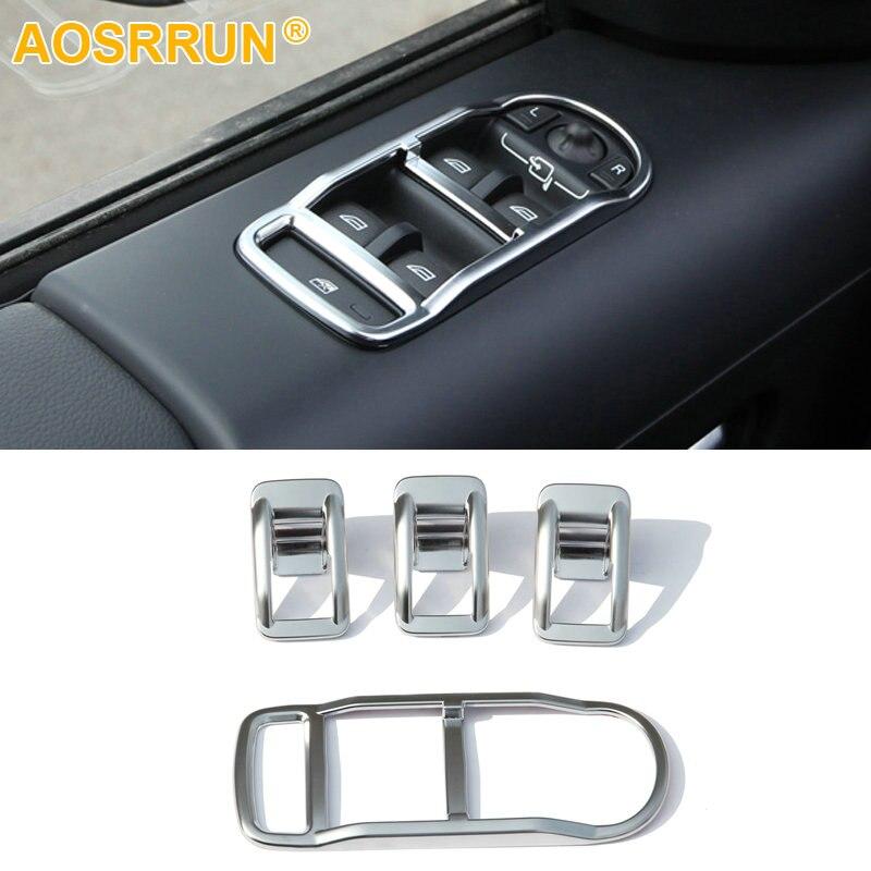 AOSRRUN ABS Krom Trim Pencere kaldırıcı Kapak Araba Aksesuarları - Araç Içi Aksesuarları - Fotoğraf 1
