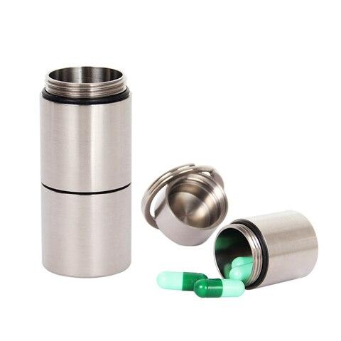artesao ti titanio pilula armazenamento eco recipiente