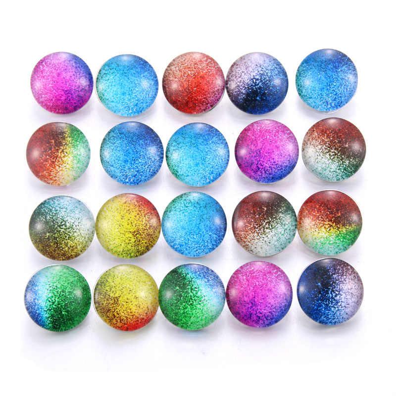 10 قطعة مختلط الألوان 18 مللي متر الزجاج كابوشون الحياة شجرة أزرار إطباقية صالح لتقوم بها بنفسك المفاجئة سوار مجوهرات OEM ODM طباعة أزرار