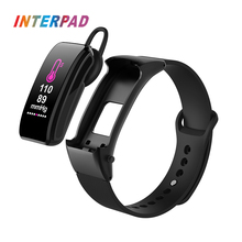 Interpad Sport Men Smart Watch For Android iOS Phone With Earphone Heart Rate Monitor Women Smartwatch Refuse/Answer Call