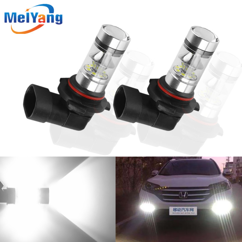 2pcs H11 H8 LED Fog Light Bulbs 9005 HB3 HB4 9006 Car Daytime Running Lights Auto DRL Driving Lamp 12V 24V 6000K White send ems ups dhl 98