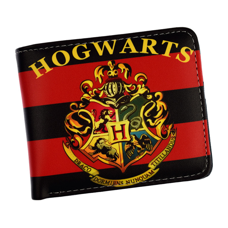 Free Shipping Harry Potter Short Wallet Hogwarts Letter Wallet Coin Purse Card Holder Dollar Price 2016 new arrive pvc and pu leather purse american marvel comic deadpool wallet with card holder dollar price free shipping