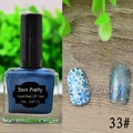 Born Pretty Shimmer Blue Nail Polish Nail Art Stamping Polish 15ml Manicure Nail Art Printing Varnish