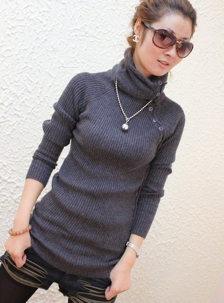 free shipping 2015 hot sale long sleeve turtleneck women thicken ...
