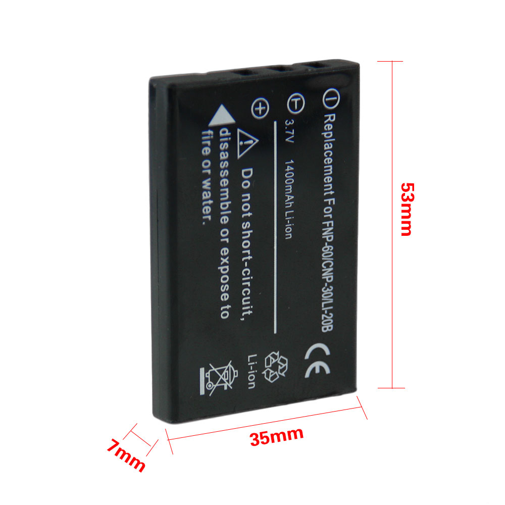 High Quality 1pcs Battery NP-60 NP 60 NP60 Rechargeable Camera Battery For FUJIFILM FUJI FinePix M603 F601 F410 F401 50i Zoom np w126 1600mah 7 2v rechargeable li ion battery camera battery pack for fuji finepix hs30exr hs33exr