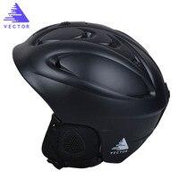 VECTOR Brand Ski Helmet Men Women Children Skiing Snowboard Helmet PC EPS Ultralight Snow Skating Skateboard