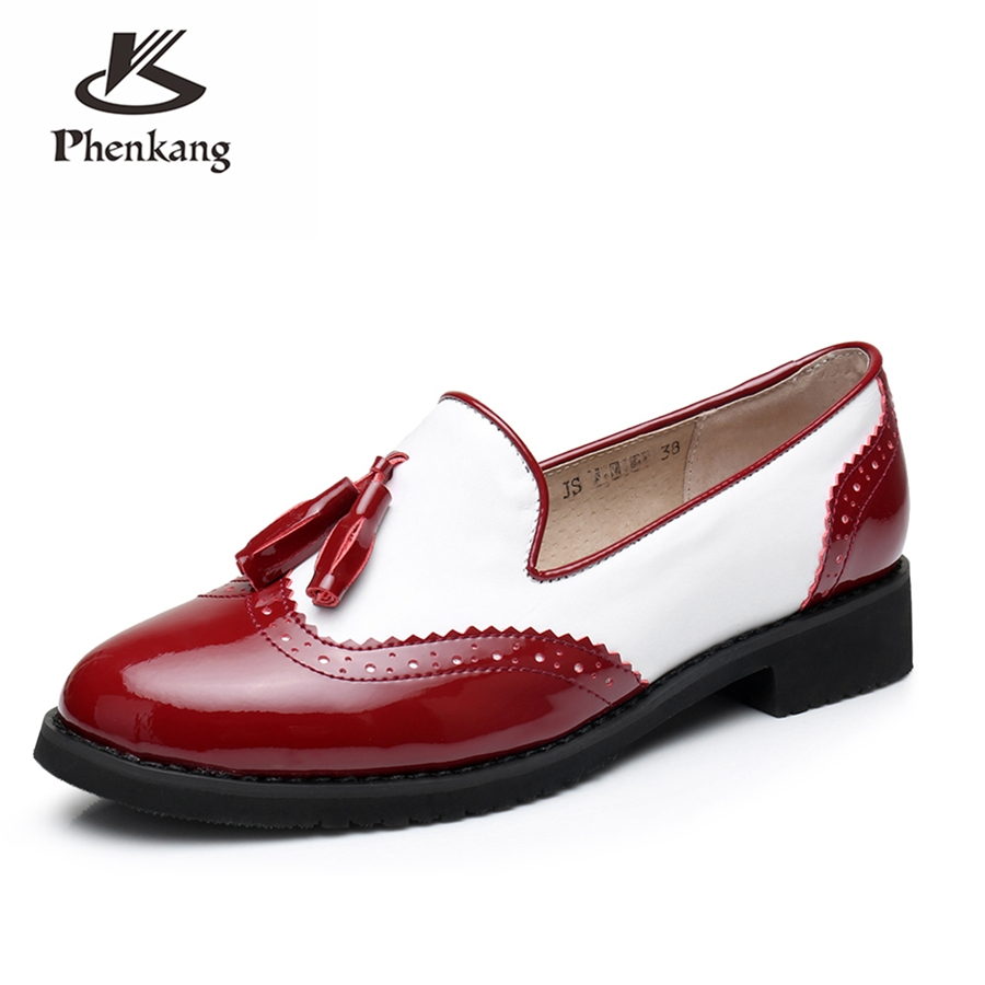 Genuine cow leather brogues sneakers designer vintage flats shoes handmade oxford shoes for women 2018 sping big US size 10 genuine cow leather women flats shoes handmade vintage british style oxford shoes for women shoes sandals 2018 spring big us 9