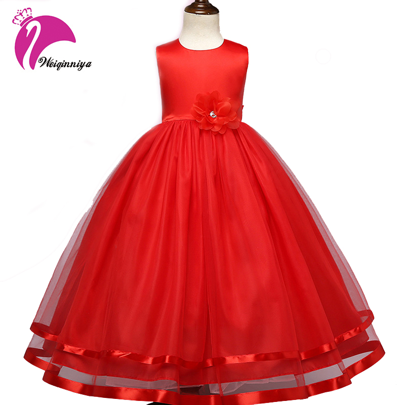 Children Girls Dress New Brand Summer Fashion Sleeveless Floral Bowknot Kids Party Dress Flowers Vestidos Infantis Kids Clothes baby girls summer dress 2017 new brand kids seqined party dress for girls children performance fashion clothes dress
