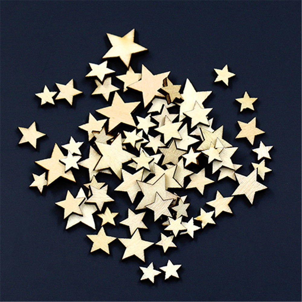 Objective 50pcs Christmas Holiday Wooden Collection Snowflakes Buttons Snowflakes Embellishments 18mm Creative Decoration Arts,crafts & Sewing