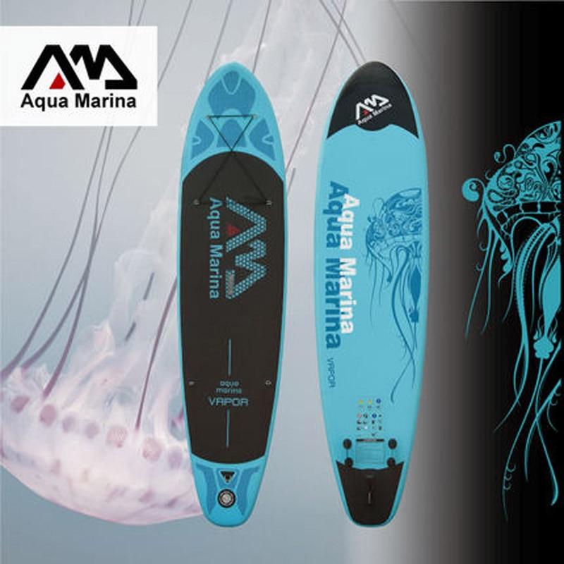 AQUA MARINA 11 pieds VAPEUR gonflable conseil sup stand up paddle board gonflable planche de surf planche de surf nouveau SPK2 PLAQUE