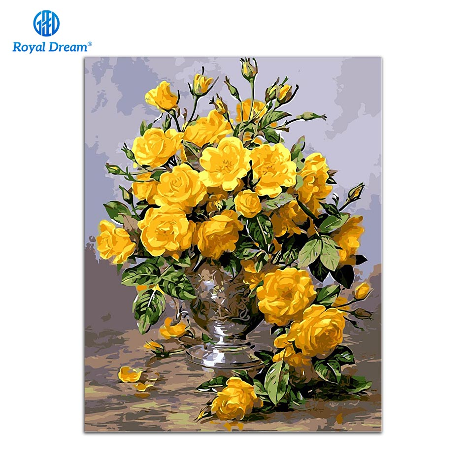 DIY oil painting paint by number canvas picture home wall decor ...
