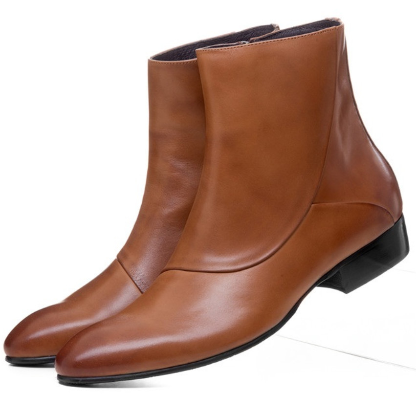Home 2019 Marke Herbst Männer Stiefel Vintage Stil Reit Stiefel Männer Casual Schuhe Mode High-cut Slip-on Warm Hombre Männer Stiefeletten