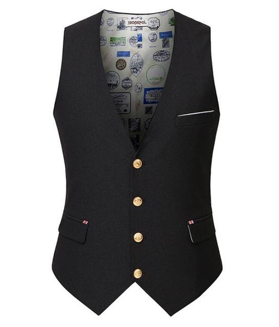 2016 New arrive Men's Suit Vest Casual Pure color Vest Slim Fit Luxury business Dress Waistcoat Vest for man