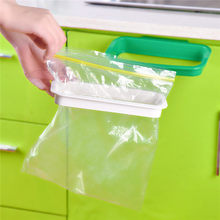 Hanging Kitchen Cupboard Door Back Style Stand Trash Garbage Bags Storage Rack Holder 21.5×12.2×3.3cm Kitchen Accessories