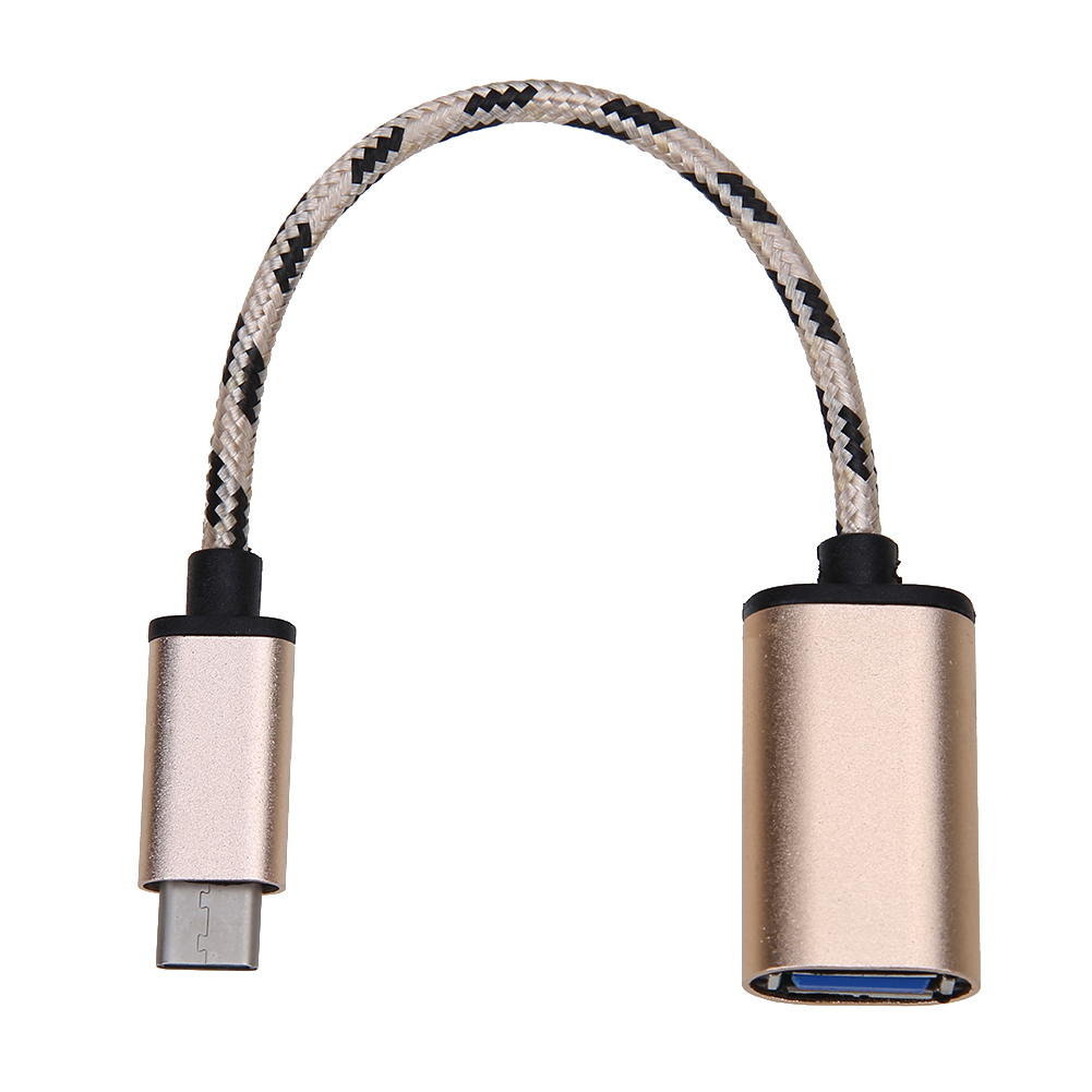 Nylon Braided Type C OTG Cable Male To USB 3.0 Female Sync Data Charger USB-C 3.1 OTG Cable Converter Adapter For Windows XP 2pcs metal type c adapter male to usb 3 0 female converter type c to otg usb3 0 data cable for google macbook chromebook oneplus