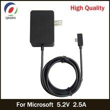 Qinern 5.2v 2.5a 13w carregador adaptador de energia para microsoft surface 3 tablet portátil adaptador fontes de alimentação para microsoft