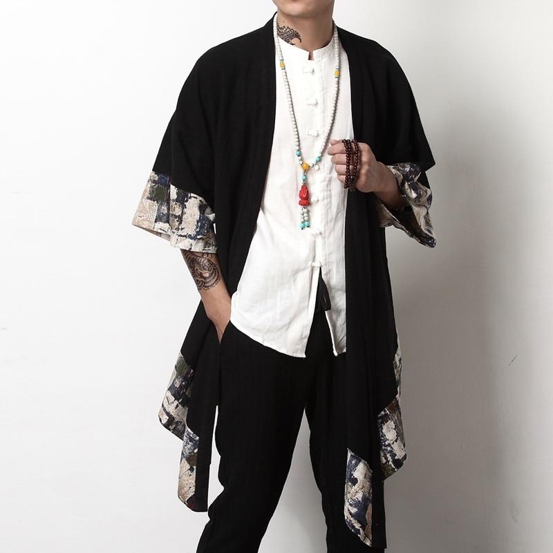 Clearance Sale×Japanese Kimono Bomber-Jacket Yukata Men Harajuku Clothing for Streetwear Traditonal