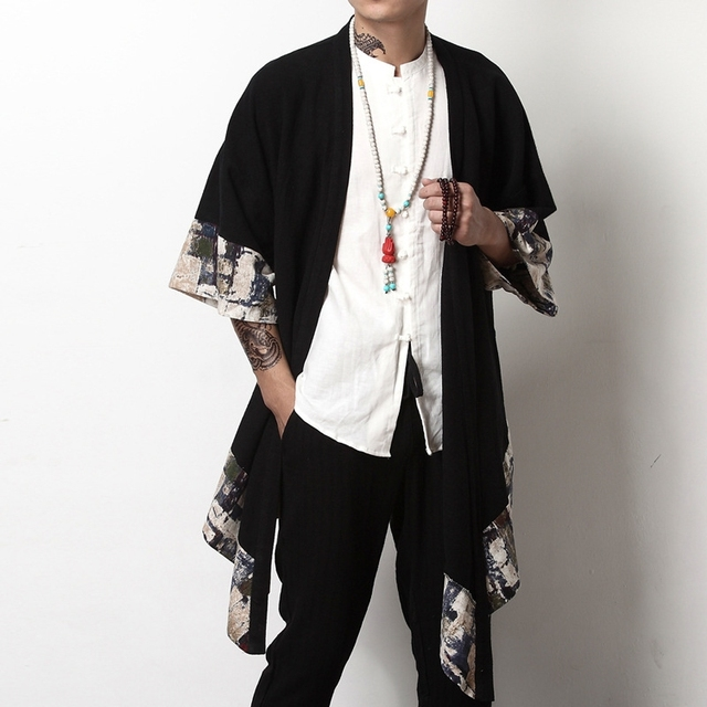 Japanese streetwear clothing Japanese kimono men jacket harajuku yukata men bomber jacket traditonal Chinesejackets for men A001